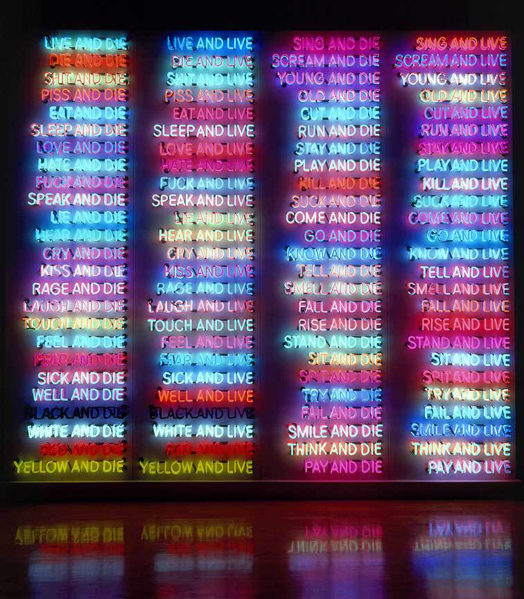 bruce-nauman-one-hundred-live-and-die
